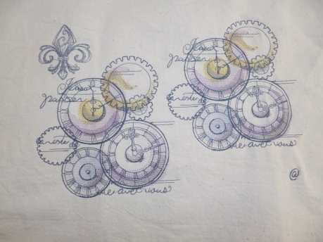 Steam punk style Gears
