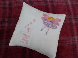 Blonde Applique Fairy with purple dress