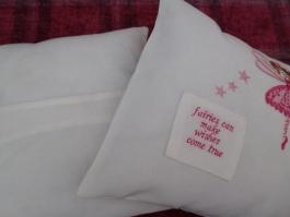 Envelope Back of Cushion