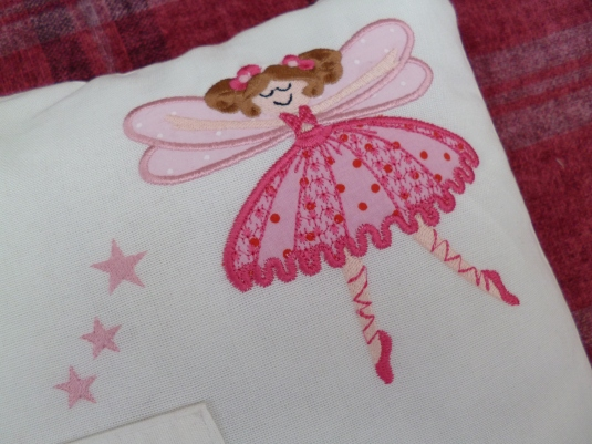 Girls Toothfairy Applique Cushion