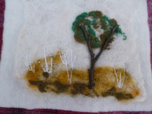 My first attempt at wet felting.